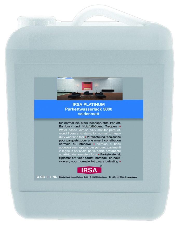 IRSA PLATINUM 3000 1K Parkettwasserlack, seidenmatt - 10L