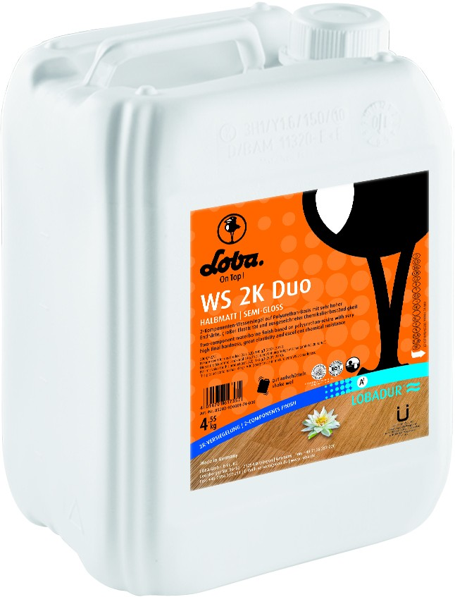 Loba - LOBADUR Zweikomonenten Wasserlack WS 2K Duo - 5,0 kg matt